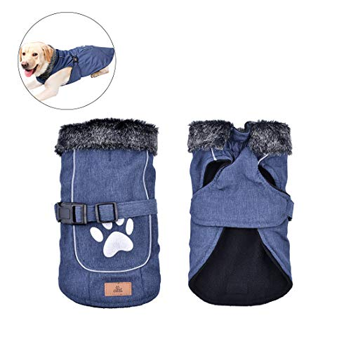 Dog Coats Winter Dog Jackets Waterproof Windproof Cold Weather Pets Apparel Coats Small Medium Large Dog Vest,S-XXL Size,Red/Blue