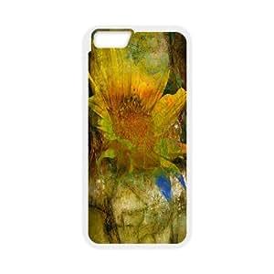 Van Gogh Art Irises Series, IPhone 6 Case, Van Gogh Sunflowers Case for IPhone 6 [White]