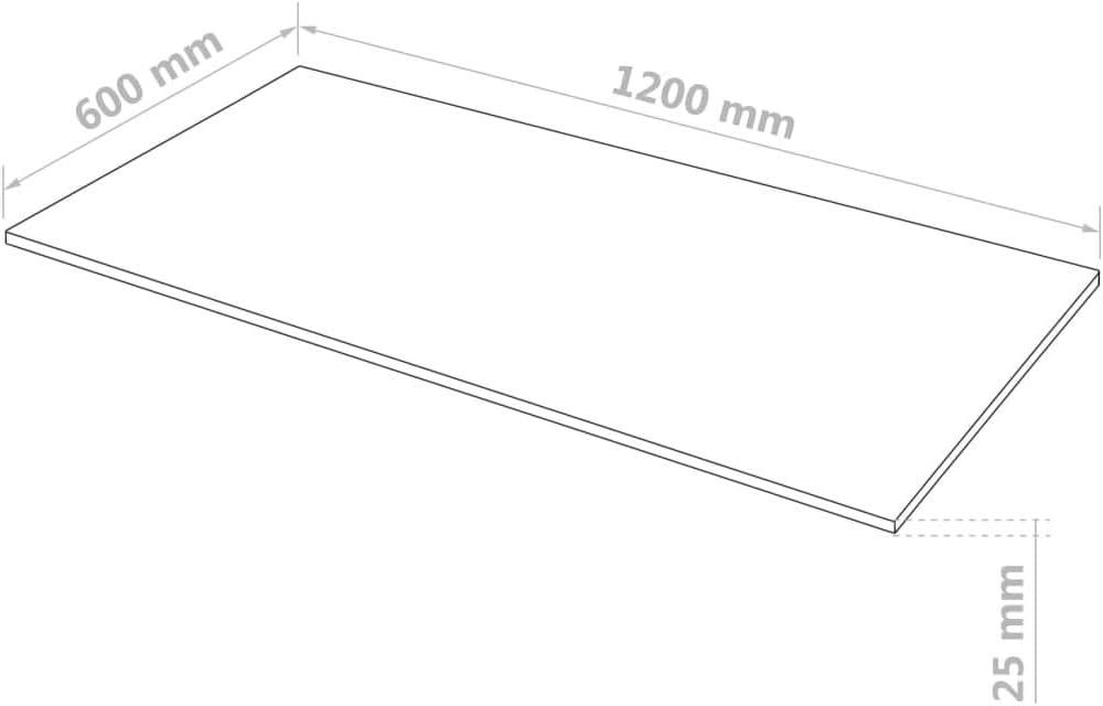 vidaXL Plaque MDF Rectangulaire 120x60 cm 25 mm Panneaux Feuilles Contreplaqu/é