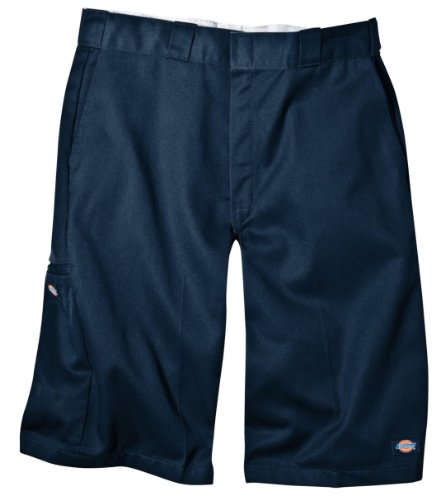 Dickies Men's 13 Inch Loose Fit Multi-Pocket Work Short, Navy, 29
