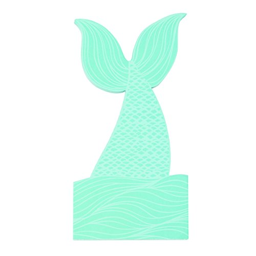 Note Mermaid (C.R. Gibson Shaped Note Pad, 75 Sheets, Die Cut Shape, Perfect For Notes & Doodles, Measures 4.5