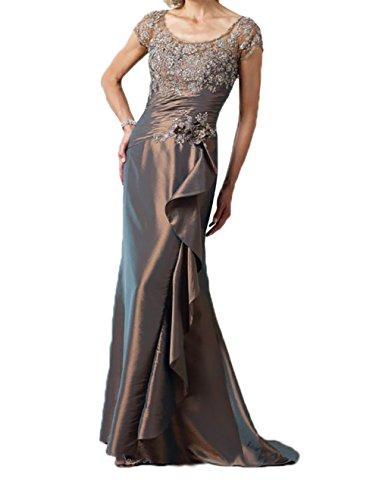 Etuikleider Kurzarm Brautmutterkleider Promkleider Charmant Abendkleider Damen figurbetont Grau Glamour Spitze 8FqxwfOC