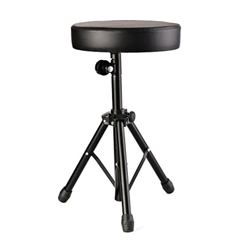 Dtemple Heavy Duty Drum Throne Adjustable Keyboard Throne Stool by dtemple