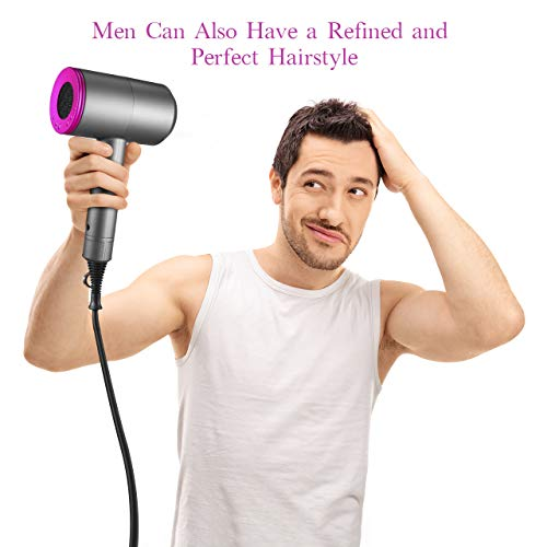 Ionic Hair Dryer, ROIFLY 1800-2000W Professional Hair Blow Dryers with 3 Heat Settings, 2 Speed, One Cool Settings, 2 Concentrator Nozzles, Fast Dry, Low Noise, for Home, Travel, Salon, Hotel