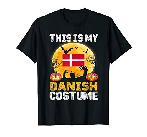 This Is My Danish Flag Costume Shirt Halloween Denmark