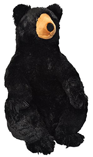 (Wild Republic Black Bear Plush, Stuffed Animal, Plush Toy, Gifts for Kids, Little Biggies 30)