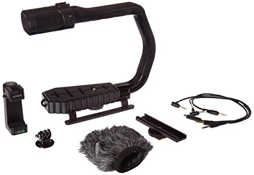 Sevenoak'Deluxe' MicRig Universal Video Grip Handle with Stereo Microphone & Windscreen + Bonus Shoe Extender Bracket &...