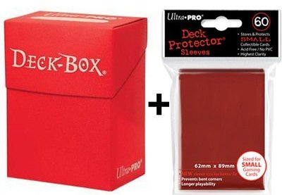 Ultra Pro Deck Box + 60 Small Size Protector Sleeves - Red - Yu-Gi-Oh!