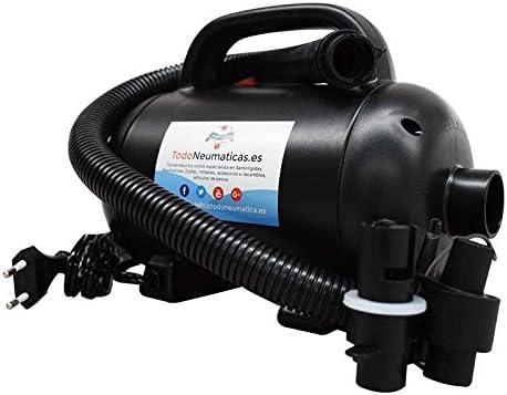 Todoneumaticas Bomba de Aire eléctrica de Gran caudal 220V- 1200W - Hinchador o Inflador eléctrico diseñado para embarcaciones y Objetos hinchables