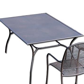 Tavolo Rettangolare Ferro Da Giardino.Tavolo In Ferro Rettangolare Da Giardino Esterno 150x90 Marrone