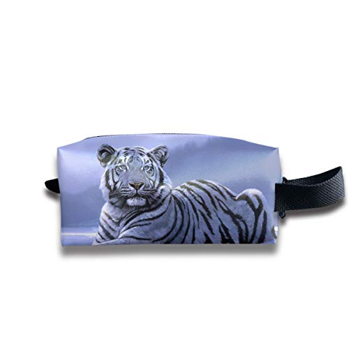 Clash Durable Zipper Wallet Makeup Handbag With Wrist Band Snow Tiger Toiletry Bag -