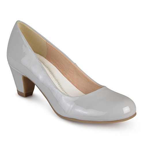 Journee Collection Collection Patent Womens Grey Pumps Classic Comfort Journee Fit EAwxwTdHq