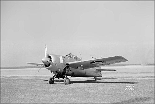 (24x36 Poster . Grumman F4F-3 Wildcat Naca Langley Research Center 1941)