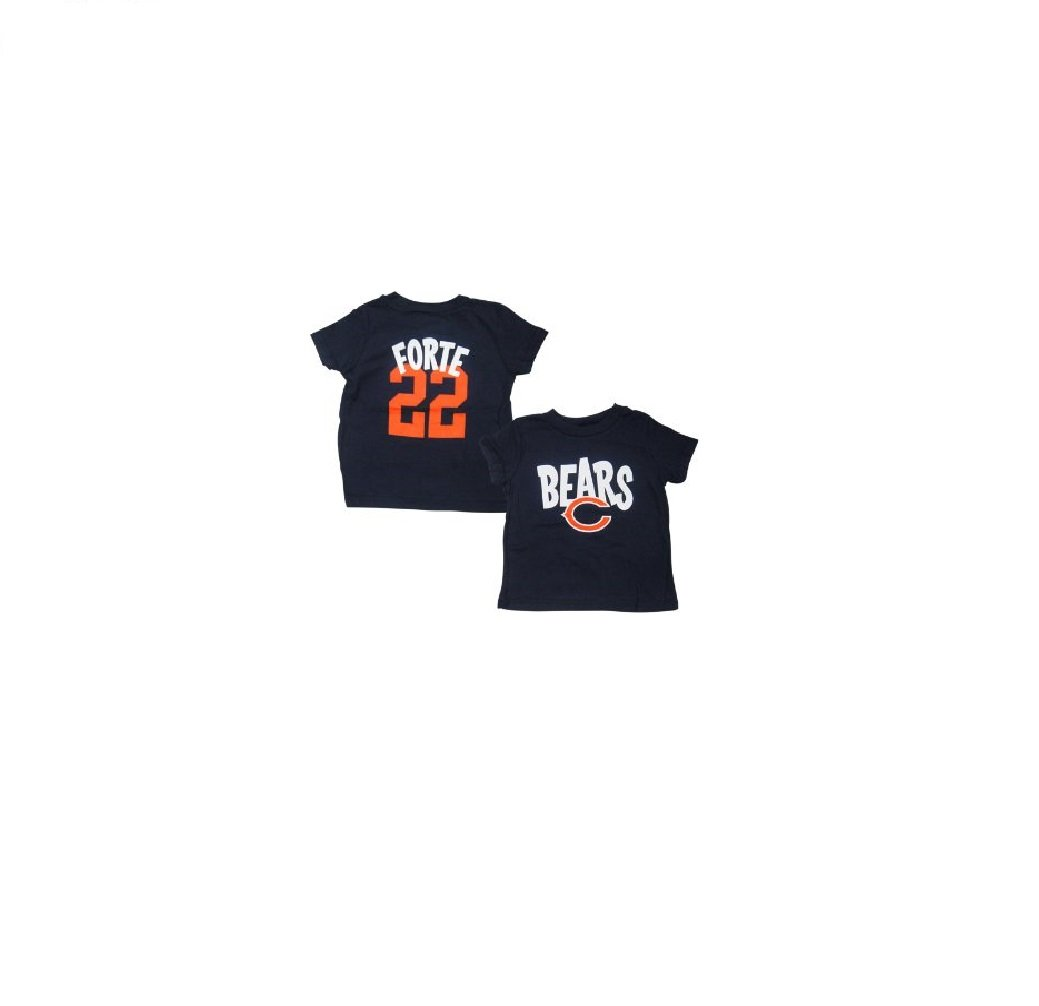 8e370c661ca Amazon.com   Outerstuff Matt Forte Chicago Bears Baby Infant Whirlwind Name  and Number T-Shirt 18 Months   Sports   Outdoors