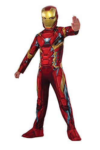 Rubie's Costume Captain America: Civil War Value Iron Man Costume, Medium (Tony Stark Halloween Costume)