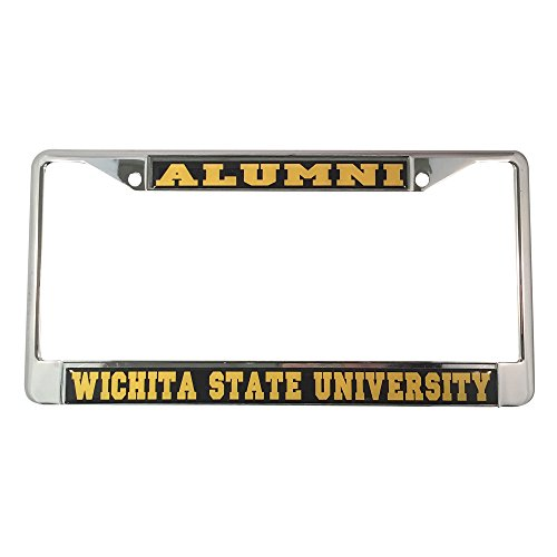 Wichita State University License Plate Frame/Tag For Front Back of Car Officially Licensed (Alumni - Metal Frame)