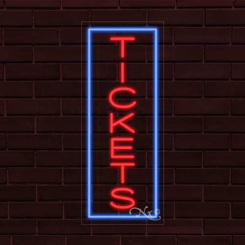 13x32x1 in Tickets Flashing LED Flex Window Sign Includes Inline Remote Control