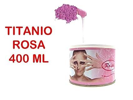 Barattolo cera TITANIO ROSA ROIAL ceretta depilatoria liposolubile vaso 400ml