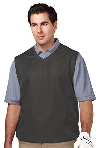 (Tri-Mountain Big and Tall Windproof Water-Resistant Vest. J2612 Legend Charcoal)