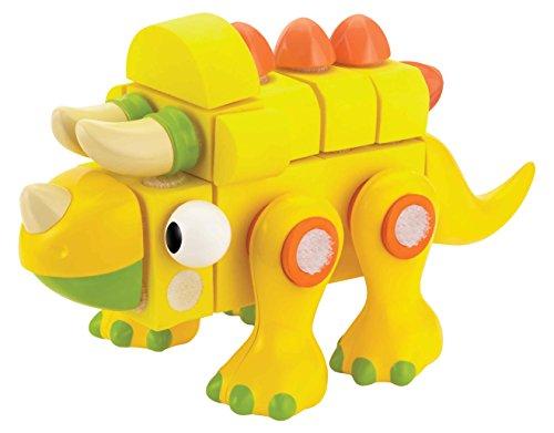 Velcro Kids, VELCRO Brand BLOCKS | STEM Toy | Dinosaur Building Blocks, Lightweight Foam | 26 Piece, Triceratops, Age 3+ [Packaging May Vary]