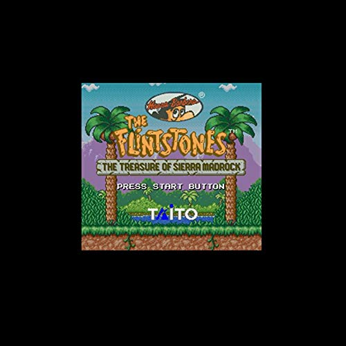 Flintstones, The - The Treasure Of Sierra Madrock Ntsc Version 16 Bit 46 Pin Big Gray Game Card For Usa Game Players ()
