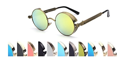 Steampunk Fashion Sunglasses NYC (Yellow, - Nyc Goggles