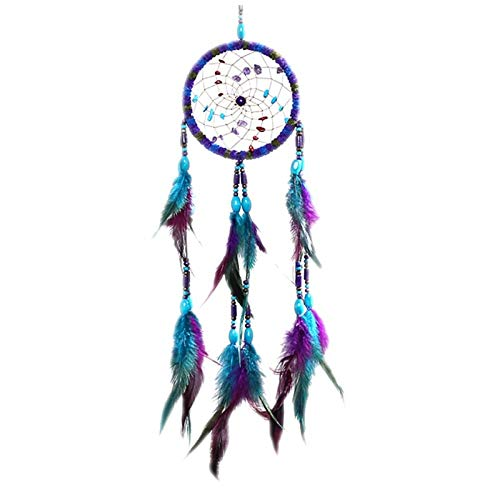 SeedWorld Wind Chimes & Hanging Decorations - Flying Wind Chimes Dream Catcher Handmade Gifts Dreamcatcher Feather Pendant Creative Hollow Wind Chimes Wall Hanging Decoration 1 PCs