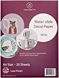 Hayes Paper Co, Waterslide Decal WHITE LASER