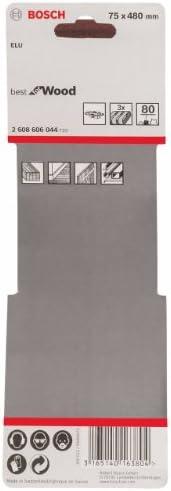 Bosch 2608606045 Ruban abrasif 3 pi/Ã/¨ces 75 x 480 mm Grain 100