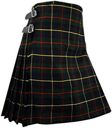 MacLeod of Harris Tartan Men`s Scottish Kilt 8 Yards 13oz / MacLeod of Harris Tartan Men`s Scottish Kilt 8 Yards 13oz
