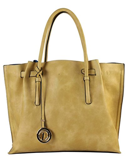 diophy-women-vintage-pu-leather-dual-compartments-snap-closure-satchel-handbag-yellow