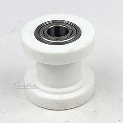 Wingsmoto Chain Roller 8mm ID Tensioner Guide Wheel Chinese Dirtbike Pit Bike Motocycle (White): Automotive