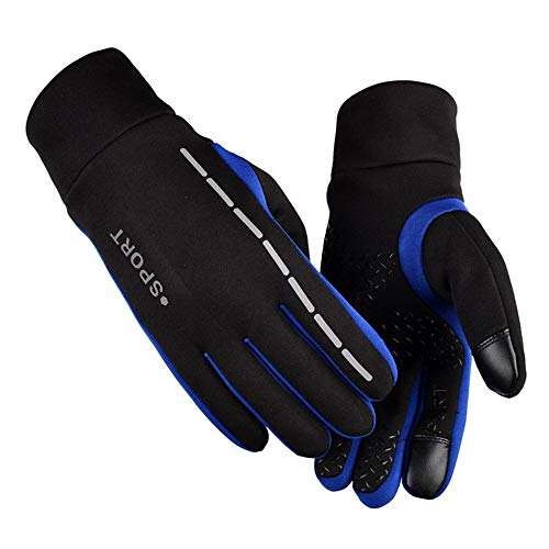 (WELCOMEUNI Men Women Winter Warm Gloves -30 ℉ Thermal Outdoor Sports Deerskin Leather Soft Sports Equipment)