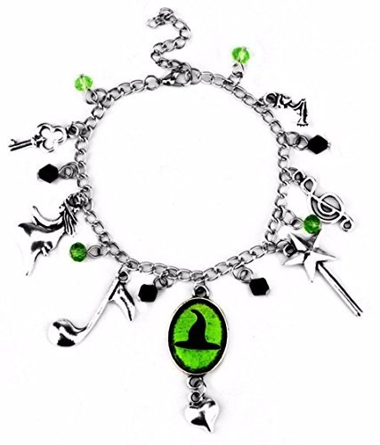 New Horizons Production Broadway Musical Wicked Defy Gravity Assorted Metal Charms Bracelet -