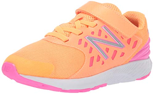 New Balance Girls' Urge V2 FuelCore Hook and Loop Running Shoe Mango/Light Peony 10 M US Toddler