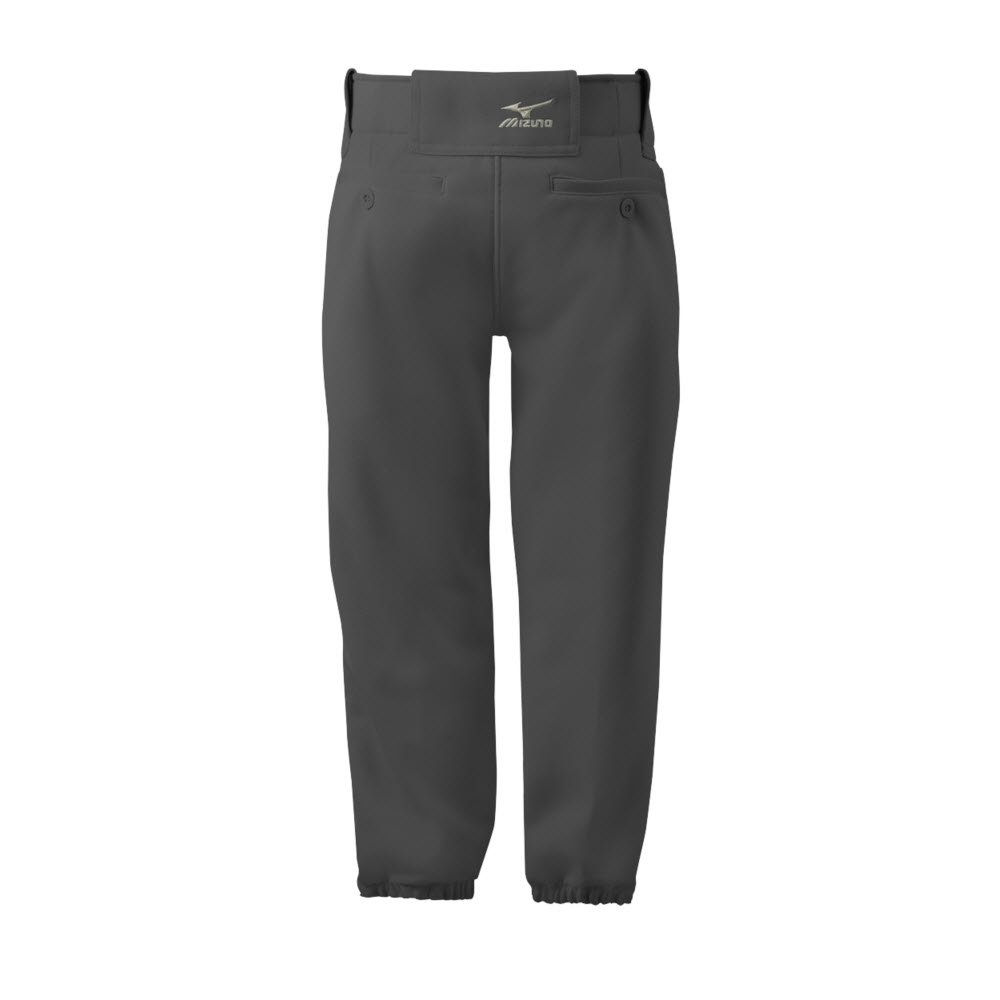 Mizuno Adult Women's Belted Low Rise Fastpitch Softball Pant, Dark Charcoal, X-Small