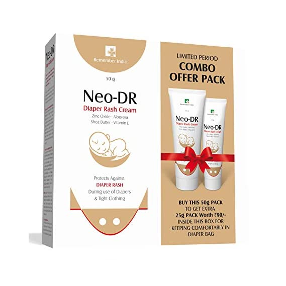 Remember India Neo-DR : Diaper Rash Cream, 50 g Combo Pack with 25 g