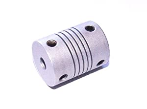 "Signstek Aluminum Flexible Z Axes Coupler 5mm x 8mm 5/16"" RepRap 3D Printer Prusa Mendel Silver by Signstek"