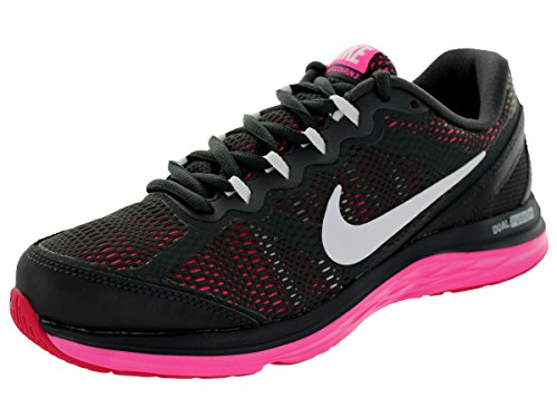 Nike Womens Dual Fusion Run 3 Anthrct/White/Hypr Pnk/Fchs...