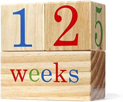 d6d4bac6ee53 Amazon.com   BB Blocks Bold  Baby Age Photo Blocks (Weekly