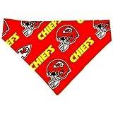 KC Chiefs Pet No-Tie Bandana