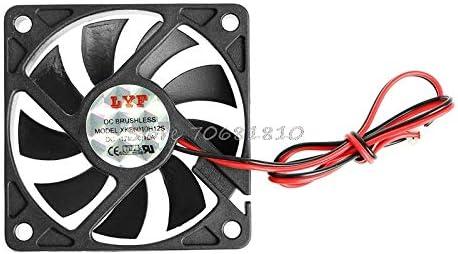 Blade Color: Black, Blade Quantity: 9 Rarido ping DC 12V 2-Pin 60x60x10mm PC Computer CPU System Sleeve-Bearing Cooling Fan 6010