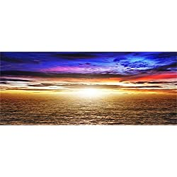 Laeacco 20x8ft Magnificent Seaside Scenery Photography Background Sunset Glow View Photo Backdrop Wedding Party Decoration Wall Background