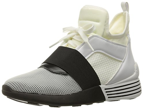 KENDALL + KYLIE Women's Braydin Sneaker, White/Black, 8.5 M - Kylie Black Kendall White And And