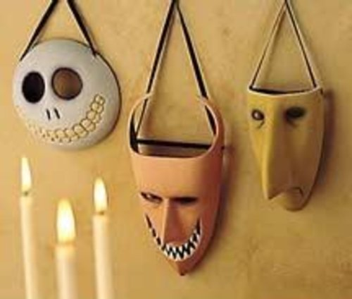 Nightmare Before Christmas Lock Shock and Barrel Wall Masks [Set of -