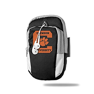 AIJFW Clemson University Outdoor Sports Armband, Multifunctional Pockets Arm Bag Arm Pocket Armband For Running Trekking Hiking Cycling Mounting Strolling Armband