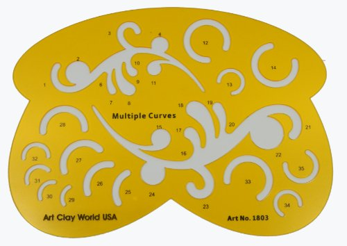 (Artistic jewerly craft drafting Design Template Stencil - Multiple Curves)