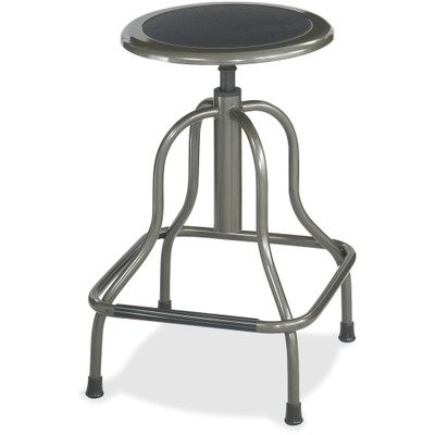 - SAFCO Products 6665 Diesel Series Backless Industrial Stool, High Base, Black Leather Seat