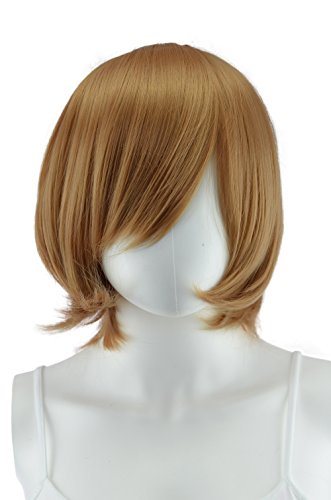 EpicCosplay Chronos Caramel Brown Layered Bob Costume Wig