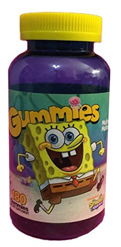 SpongeBob SquarePants Multivitamin Gummies, 180ct